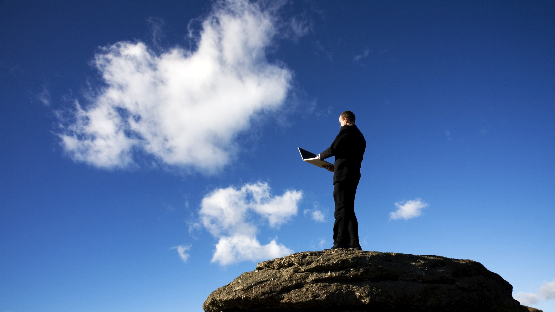 Is cloud computing the future? This guy seems to think so ... photo by CC user George Thomas on Flickr