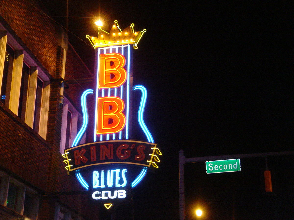 With tons of well-regarded blues venues, Memphis is one of America's Great Music Cities ... photo by CC user Egghead06 via wikipedia