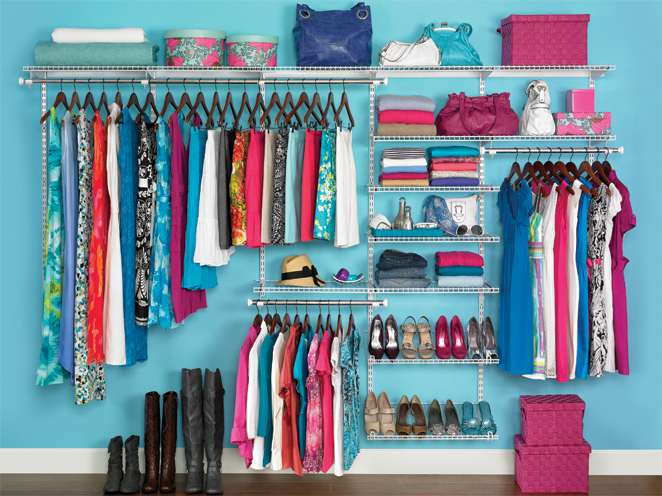 """Rubbermaid Homefree Series Closet Kit"" by Rubbermaid Products, used in accordance with CC BY 2.0"